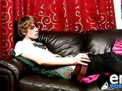Emo twinks Josh Frey sprays a huge load of jizz on himself  scene 2
