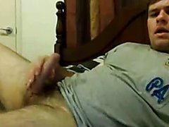 Sexy cub wanking his nice cock