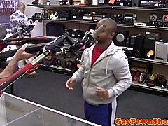 Black pawnshop amateur spitroasted in trio