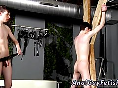 Victim Aaron gets a whipping, then gets his crevice