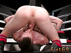 Axel Abysse and Matt Wylde bathe each other in a tongue