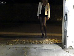 TRAVESTI CD TS TV SISSY EXHIB COLLANTS PANTYHOSE outdoor