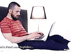 Maskurbate Horny Stepdad Finds Sons Porn Online!