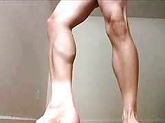 flexing my leg and calf muscles from different angles