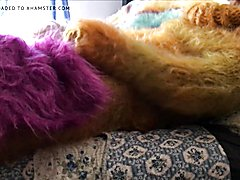 Mohair Catsuit Play