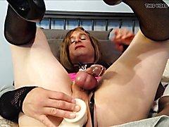 sissy in chastity, round 2