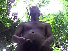 NICE HUGE CUM SHOWER OUTDOOR, IN PUBLIC FOREST, AMATEUR SOLO
