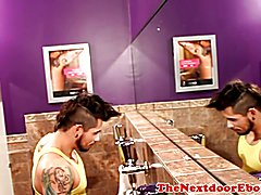 Black stallion assfucked inked bottom in trio