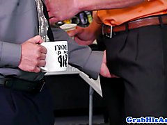 Ginger office stud ass plowed by hunky boss