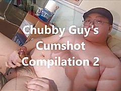 Chubby Guy's 2nd Cumshot Compulation