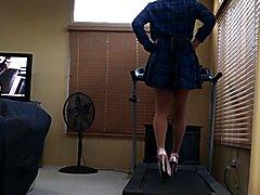"Practicing in my new 8"" heels with 2"" platform."