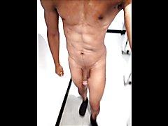 walking naked in gym locker room