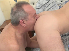Grampa knows  guys love his large pecker