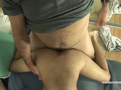 Latino Dad and Boy Raw Flip Fuck