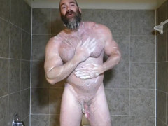 Strong Grandpa Rick Flex Jack Off & Sperm