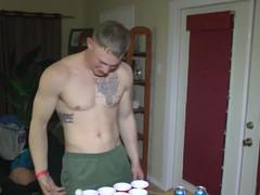 Tasty straight marine at naked party