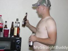 Nasty straight marine at naked party