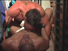 Hunk colleagues buttfuck in supply closet