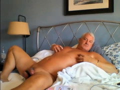 amazing old man plays with his dick