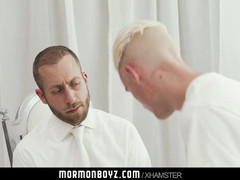 MormonBoyz-Aroused boy missionary jerked off by priest dad