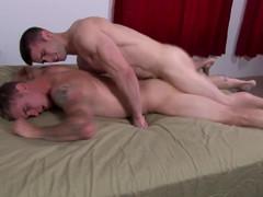 Bareback Straight Large Penis Raw Muscular Stud Military Twinks Love It
