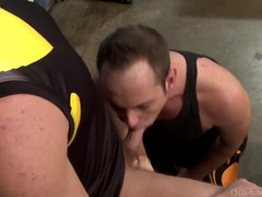 Giant Haired Jock Dude Fucks Furry Old Man's Butt Hole After Sport