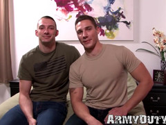 Military twink likes it condomless up his tight butt hard and deep