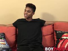 Interviewed ebony boy Deven Lions shoots big load