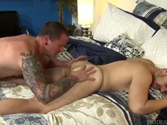 MenOver30 Hairy Boyfriend Rimmed and Penetrated  scene 2