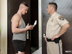 NextDoorRaw Lance Ford punished by Officer Dean