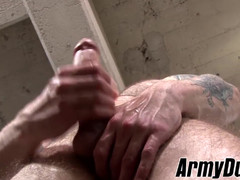 Hot giant penis Cody Smith doing a solo handjob session