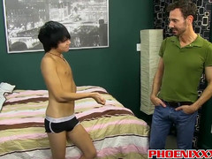 Hot tight twink Kyler Moss gets his cherry popped by Bryan  scene 2