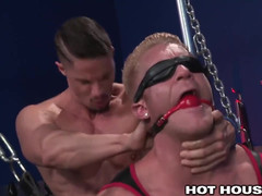 HotHouse Skyy Knox Gags and Blindfolds Lad Johnny V
