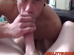 Aroused college students sucking prick and banging hard