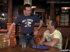 He turns into gay-slut-teenager in the bar