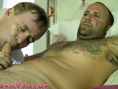 Horny hunks Joe and Duncan Dixxx have a dick sucking session  scene 3