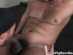 Interracial barebacking session for greedy stud