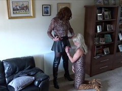Alison Thighbootboy and Zara - Leopard Print Dick Suckers