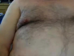 Dad seed on webcam