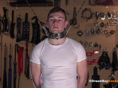 Hung jock willingly submits to master - bursts up in