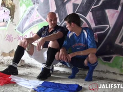 Outside french teenage butt drilling athletic coach