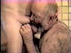 No introduction necessary two hot fat senior man in