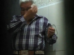 Old man public toilet very hot