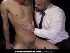 Furry priest punishes a boyz bum-hole with his phat pecker