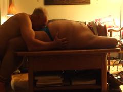Friend slurping me in his apartment