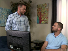 Menover30 haired euro aged man connects with lad latin
