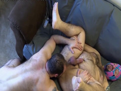 Masked cub rimmed and slammed with no condoms