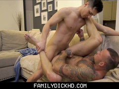 Stud step grandpa titanic muscles and tattoos pounded by step old man
