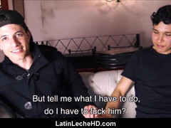 Two hot amateurish latin boyz strangers paid cash to fuck pov