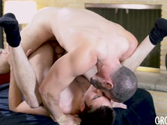 Teen man banged with no condoms 2x by haired oldie man satyr monster